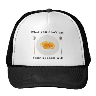 Organic vegetables, what you don't eat your garden trucker hat