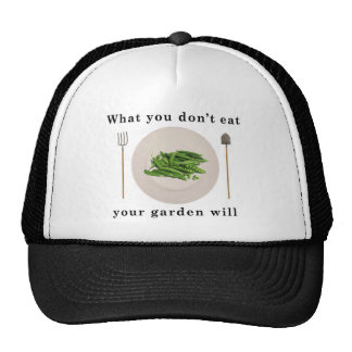 Organic vegetables, what you don't eat your garden mesh hat
