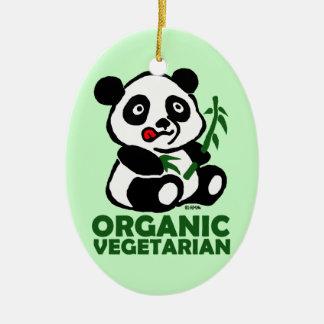 Organic vegetarian ceramic ornament