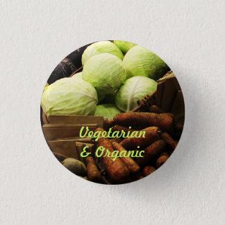 Organic Veggies badge Pinback Button