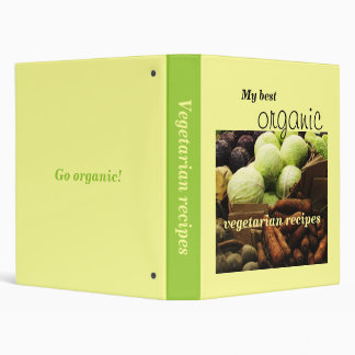 Organic Veggies customizable recipe binder