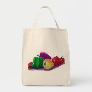 Organic Veggies Grocery Tote Bag