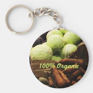 Organic Veggies keyring Basic Round Button Keychain