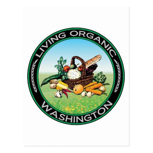 Organic Washington Postcard