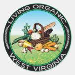 Organic West Virginia Stickers