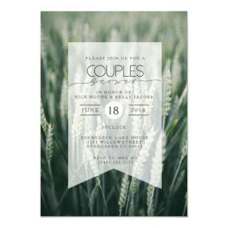 Organic Wheat | Couples Shower Invitation