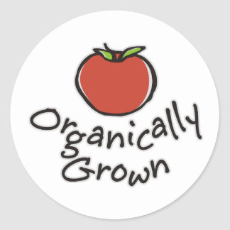Organically Grown Classic Round Sticker