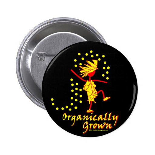 Organically Grown T shirts & gifts Buttons