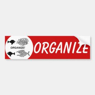 Organice a la pegatina para el parachoques pegatina para auto