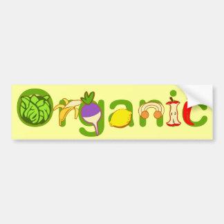 Orgánico Pegatina De Parachoque