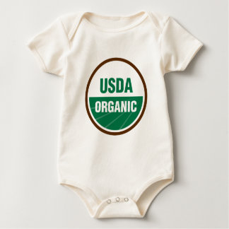 Orgánico certificada mamelucos de bebé