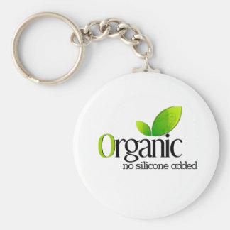 Orgánico - ningún silicón añadido llavero redondo tipo pin