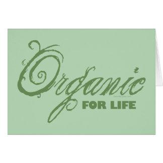 Orgánico para la vida tarjeta de felicitación
