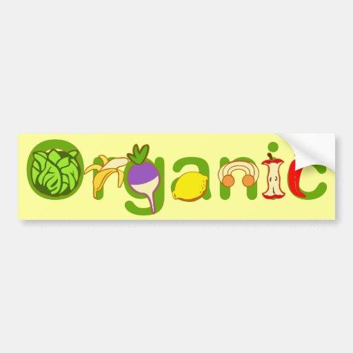 Orgánico Pegatina Para Auto