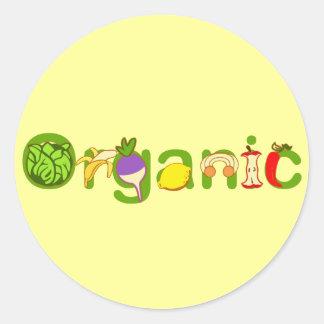 Orgánico Pegatina Redonda