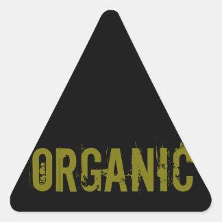 Orgánico Pegatina Triangular