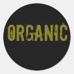 Orgánico Pegatinas Redondas