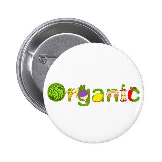 Orgánico Pin Redondo De 2 Pulgadas