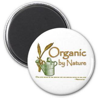Orgánico por la naturaleza imán redondo 5 cm