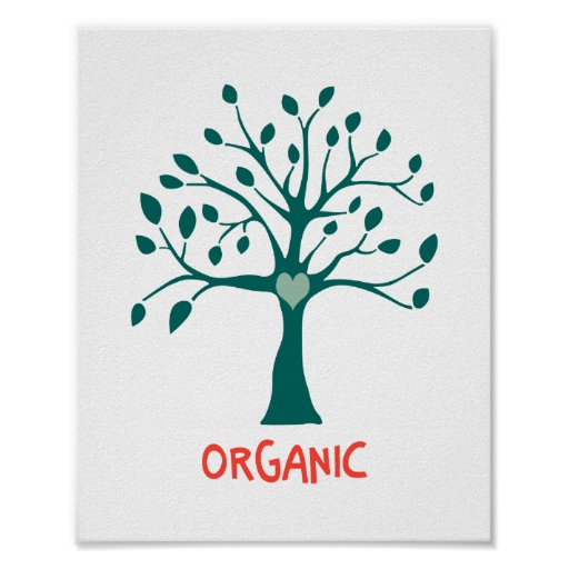 Orgánico (tamaño estándar del marco) póster
