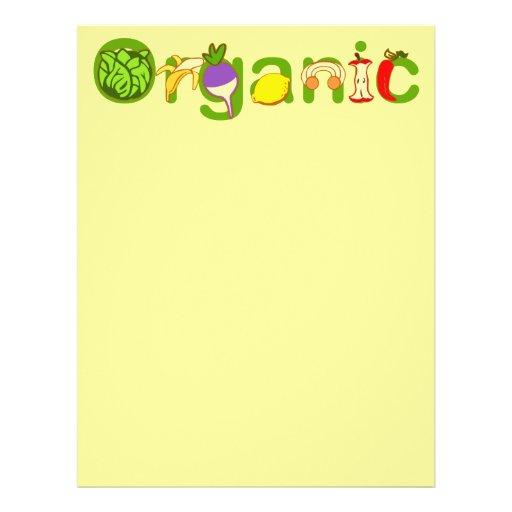 Orgánico Tarjeta Publicitaria