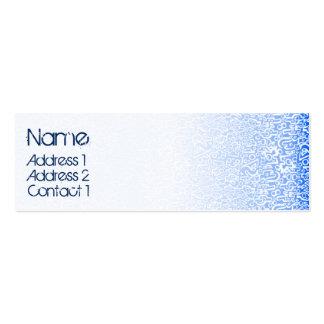 ORGANICS blue Mini Business Card