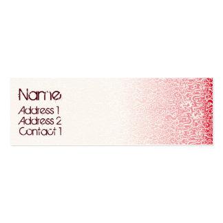 ORGANICS red Mini Business Card