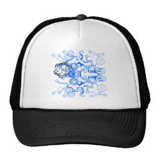 organigrama azul claro del circuitboard gorras de camionero