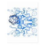 organigrama azul claro del circuitboard postal