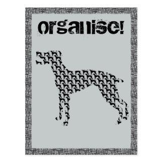 Organise! postcard
