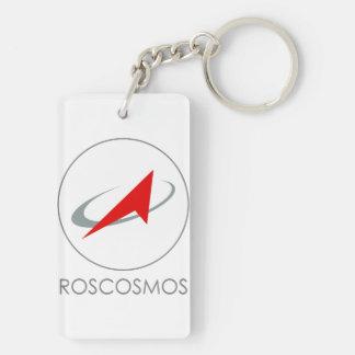 Organismo aeroespacial federal ruso - Roscosmos Llavero Rectangular Acrílico A Doble Cara