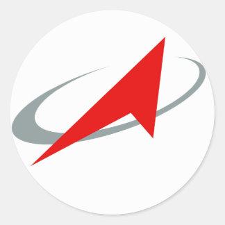 Organismo aeroespacial federal ruso: Roscosmos Pegatina Redonda