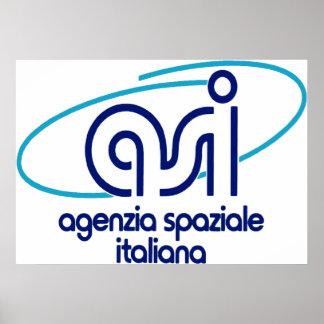 Organismo aeroespacial italiano - Agenzia Spaziale Poster
