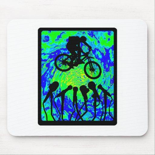 Organismo del agujero de la bici alfombrilla de ratones