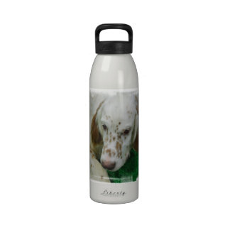 Organismo inglés adorable botella de agua reutilizable