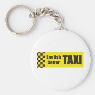 Organismo inglés del taxi llavero redondo tipo pin