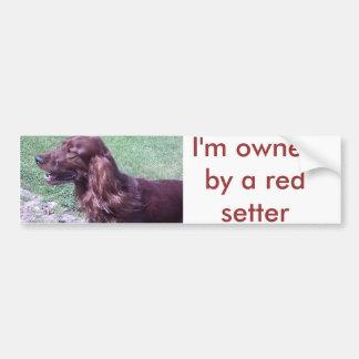 Organismo rojo pegatina para auto