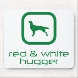 Organismo rojo y blanco irlandés tapete de raton