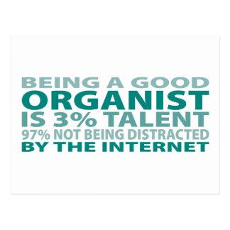 Organist 3% Talent Post Card