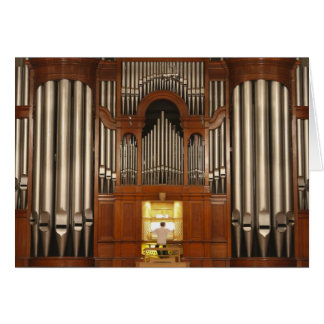 Organist at organ console card