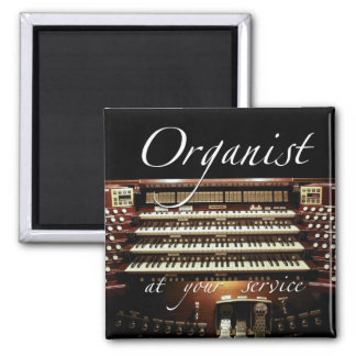Organist at your service 2 inch square magnet