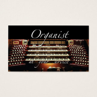 Organist at your service business card #2