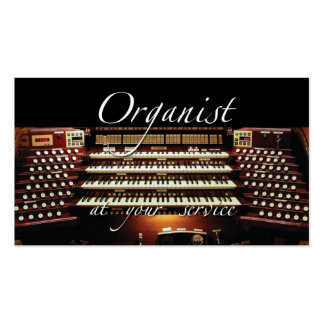 Organist at your service business card 2
