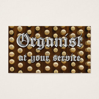 Organist at your service business cards #5