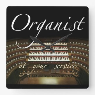 Organist at your service clock