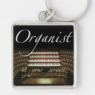 Organist at your service key chain