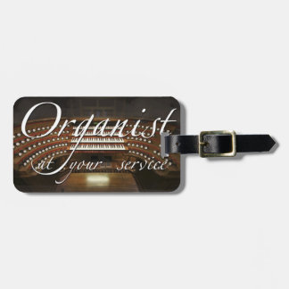 Organist at your service luggage tag