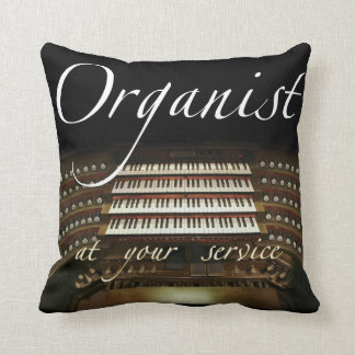 Organist at your service throw pillow