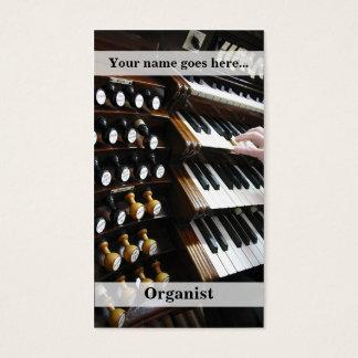 Organist business card vertical