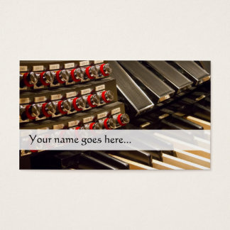 Organist business card with organ pedals